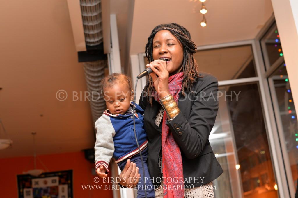 Tamika Love Jones and son