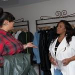 Kierra Sheard and customer at Eleven60 Pop Up Shop In Washington, D.C.