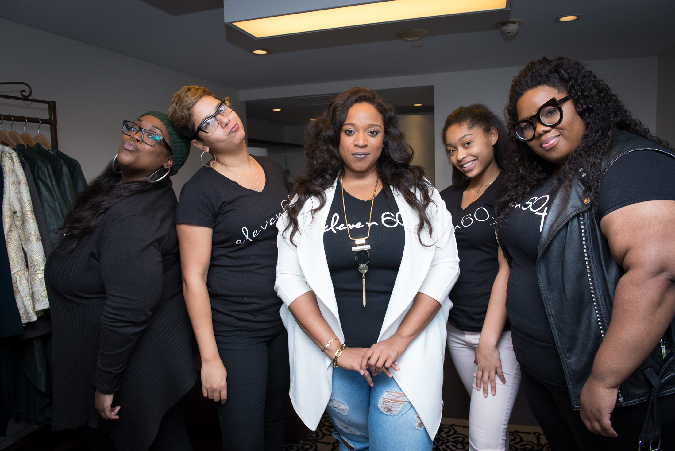 Kierra Sheard and staff at Eleven60 Pop Up Shop In Washington, D.C.